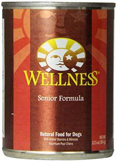 Wellness Canned Dog Food for Senior Dogs, Senior Recipe, 12-Pack of 12-1/2-Ounce Cans