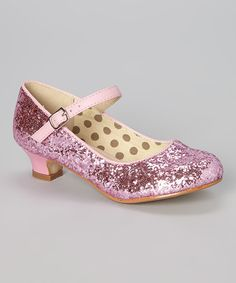 Love this Pink Sparkle Quincy Mary Jane by Styluxe on #zulily! #zulilyfinds