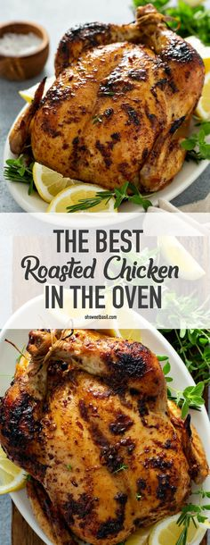 Best Whole Chicken Recipe, Baked Whole Chicken Recipes, Oven Roasted Whole Chicken, Roast Chicken Dinner, Cooking Whole Chicken, Roast Chicken Recipes, Stuffed Whole Chicken, Baked Whole Chickens, Recipe For Roasted Chicken