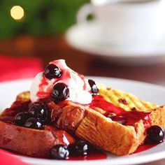 Pain Perdu with Amarena Cherries (French Toast made with Panettone)