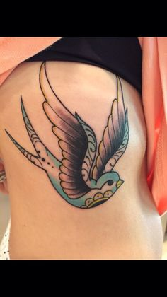 Blue bird sparrow tattoo