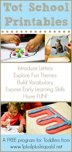Tot School Printables ~ a free program for toddlers from @{1plus1plus1} Carisa #totschool