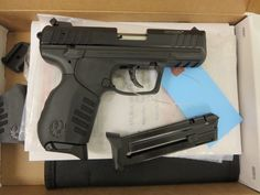 Used Ruger SR22 .22LR w/ extra magazine and box $295 - http://www.gungrove.com/used-ruger-sr22-22lr-w-extra-magazine-and-box-295/