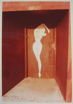 William Eggleston, Untitled (Woman's Nude Silhouette on Red Door) 1972