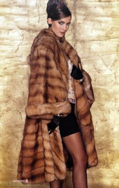 Gorgeous golden sable fur coat