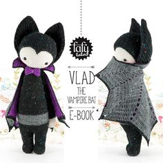 VLAD the vampire bat - lalylala amigurumi crochet PATTERN - ebook