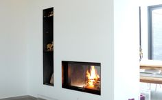 Fireplace as a room divider models
