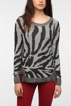 Silence & Noise Animal Print Sweater