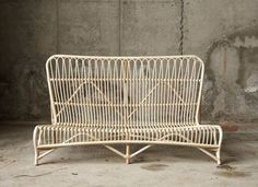Bagao Couch Rattan In Black Or Nature contemporary benches