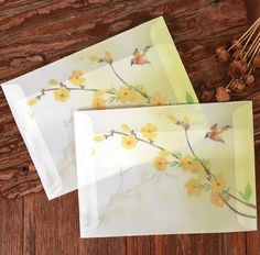 Chinese Ancient Translucent Sulfuric Acid Paper Envelope Complex Classical Postcard Card Admission Student Stationery Dd1121 #Affiliate