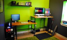 DIY Adjustable Standing Desk instructions from Creative Director, Sharon Marchand at Sparksight