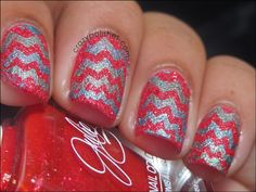 NOTD: Textured Zig-Zag!!! by crazypolishes.com http://www.crazypolishes.com/2013/08/notd-textured-zig-zag.html