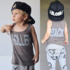 Holler back boys tank top. Toddler boy clothing. by LittleBeansCo