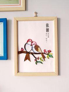 Quilled bird by Sunflower