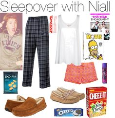 """""""Sleepover with Niall"""" by erinlooovesyou ❤ liked on Polyvore"""