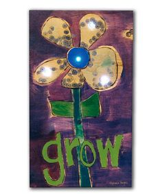 Another great find on #zulily! 'Grow' Light-Up Wrapped Canvas #zulilyfinds