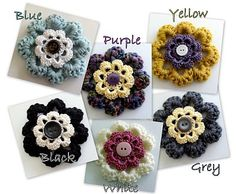 Mandipidy: YARN IT ALL: Tutorial  [Fancy Flower Pin]