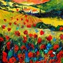 Red Poppies in Tuscany by Pol Ledent