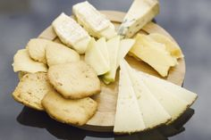 Cheese board with our mini crackers and Raisin crackers