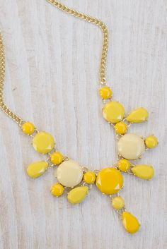 "Love the different shades...Birthday gift idea : ) ""Mellow Yellow"" Necklace $32"