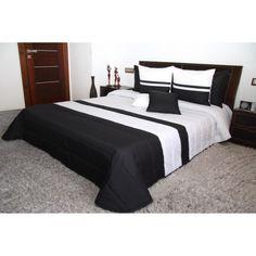 Prehoz na manželskú posteľ čierno bielej farby Comforter Sets, Comforters, Furniture, Home Decor, Bed Linens, Outfits, Colors, Creature Comforts, Quilts