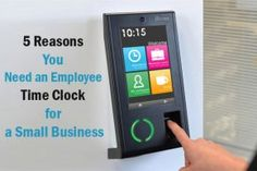 Employee Time Clock for a Small Business - Time clock system for employees is generally used to keep track and record employee worked hours, entry, exit by employees of a Small Business and company.