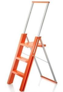 Acrylic Three Step Clear Folding Ladder From Kartell