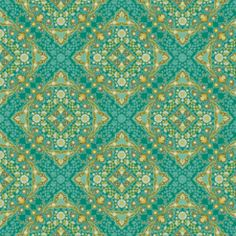 Joel Dewberry - Notting Hill Voile - Kaleidoscope in Teal wallpaper for sewing room Textile Patterns, Textiles, Paper Background Design, Teal Nursery, Teal Wallpaper, Free Spirit Fabrics, Notting Hill, Pretty Patterns, Rugs