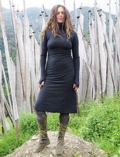 Gaia Conceptions - Turtleneck Below Knee Dress, $155.00 (http://www.gaiaconceptions.com/turtleneck-below-knee-dress/)