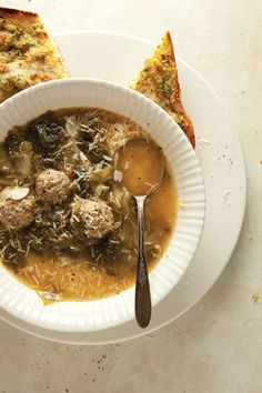 Escarole Soup w Beef Dumplings