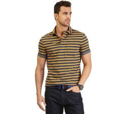 STRIPED POCKET POLO SHIRT