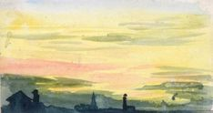 SUNSET by WILLIAM LIONEL WYLLIE Original Artwork, Sunrise, Landscape, The Originals, Artist, Painting, Painting Art, Sunrises, Landscape Paintings