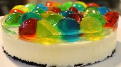 Today is Tanabata(Japanese star festival),so,i made Jewel No-bake Cheesecake! i hope your wish comes true!;) jewel gummies are strawberry,lemon,melon,and sod...
