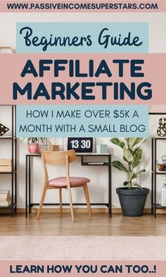 Want to learn affiliate marketing? Have you tried it and had no success? Then this beginners affiliate marketing guide will turn things around for you. A clear, concise strategy for affiliate marketing for beginners. You'll be making passive income in no Marketing Logo, Affiliate Marketing, Marketing Plan, Internet Marketing, Marketing Quotes, Marketing Opportunities, Make More Money, Make Money Blogging, Make Money Online