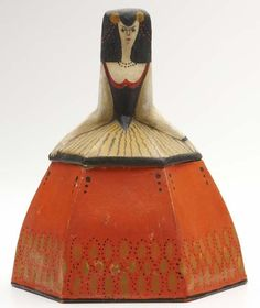 PRIMAVERA Figural Art Deco powder or candy box