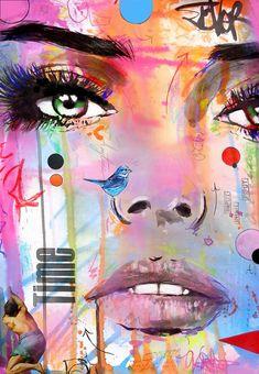 TIMEmixed media on paper by >>. Portrait Art, Portraits, Pop Art, Abstract Face Art, Poster Art, Spray Paint Art, Human Art, Arte Pop, Wall Art Designs