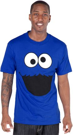 Cookie Monster Face Adult T-Shirt - I don't care if it is a men's shirt!