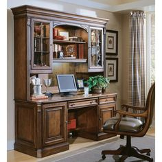 Hooker Furniture Brookhaven Executive Computer Desk With Optional Hutch - Medium…