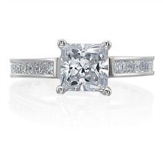 Princess cut engagement ring #BuffaloBrides #ScherersJewelers