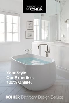 Home Design Decor, Dream Home Design, Bathroom Interior Design, Dream Bathrooms, Beautiful Bathrooms, Laundry In Bathroom, Kohler Bathroom, Master Bathroom, Master Bath Remodel