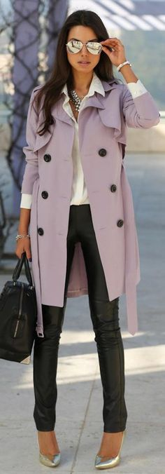 Lilac Trench #sheer_lilac #clolorofthemonth