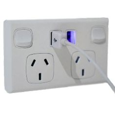 Yes, a power socket with usb! So many of our gadgets are charged via USB ports, phone, camera etc. In fact, as of 1/1/2012 all new mobile phones must come with a USB charger. This replaces (with a licensed electrician) an Australian double power point in your house and has two built in USB sockets so you can throw out those bulky transformers, or, like me, never worry about losing them again.