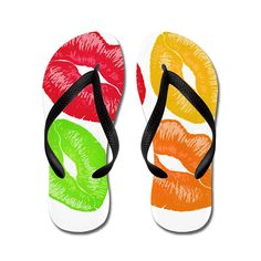 Nyou Juicy Kiss Lightweight Unisex Comfort Rubber Flip-Flop Sandal Slipper for Shower Beach Yoga Any Casual Time >>> Check this awesome product by going to the link at the image.