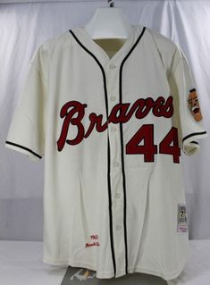 7d0e71a7c Atlanta Braves Hank Aaron  44 Jersey Mitchell   Ness Cooperstown Collection  52