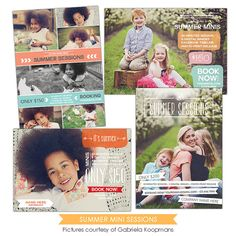 INSTANT DOWNLOAD - Photography Marketing boards - Psd Newsletter  templates - E874