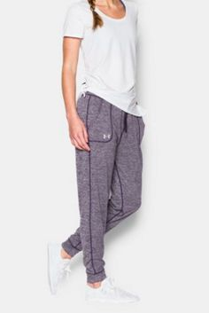 Women's Under Armour Tech Twist Pant. Generous, more relaxed fit for all day comfort.
