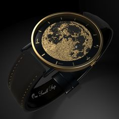 To celebrate the 50th. anniversary of the Apollo 11 moon landing this watch will be released on July 20th. 2019! Only 11 watches will be made and auctioned at a special charity auction. Designed by MB. Watch is made entirely of 14 carat gold, white gold and black gold! Black leader watch strap with gold wire stitching.