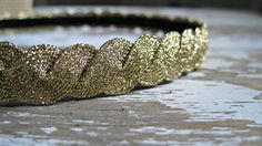 Metallic Gold Elastic Headband for Women by ponyupdesigns on Etsy, $15.00