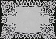 "4PCS WHITE Battenburg Lace Placemats 12x18"" Hand Embroidery, Set of 4 Pieces Creative Linens http://www.amazon.com/dp/B00AL0Q6E8/ref=cm_sw_r_pi_dp_7V22ub1ZAYYX6"