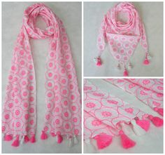 Believe in Pink, it is a color for all season and how can we not have this white and pink scarf in our spring and summer collection. Choose between a square or an oblong or maybe have them both in different designs. See our scarves collection to pick your scarf style https://www.7artisanstreet.com/collections/scarves-stoles/products/a-neon-splash-white-pink-fun-scarf
